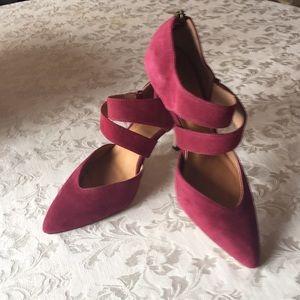 Corso Como Burgundy Suede Leather High Heels 8.5